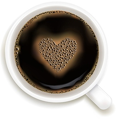 Cup Of Coffee With Prediction of Love vector