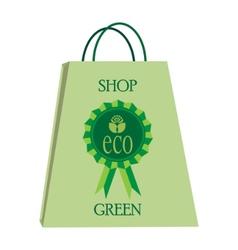 eco shopping bag vector image