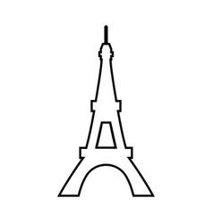 eiffel tower black color icon vector image