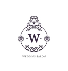 Elegant wedding monogram vector