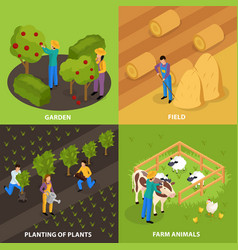 farmers life design concept vector image