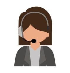 Female customer service silhouette icon vector