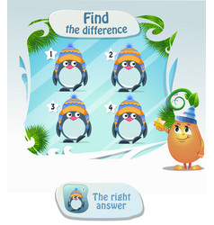 Find he difference penguin 4 vector