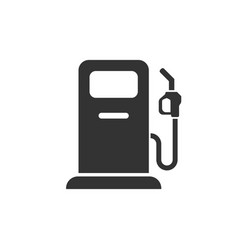 Fuel pump icon in flat style gas station sign on vector