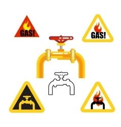 Gasoptics Gasification warning signs vector image