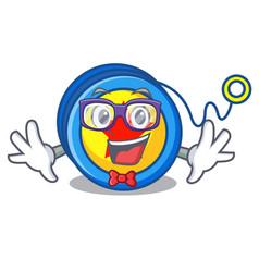 Geek yoyo character cartoon style vector