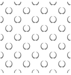Glory wreath pattern seamless vector