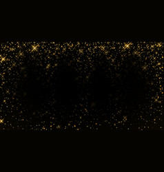 gold glitter particles black background christmas vector image