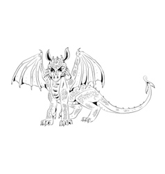 Graphic cub dragon vector