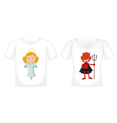 Graphic design on white t-shirts vector