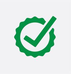 green check list button icon check mark in round vector image