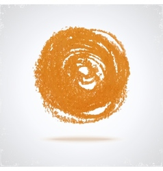 Grunge paint circle vector image