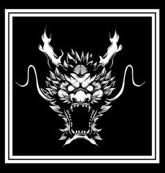 head dragon hand drawing vector image