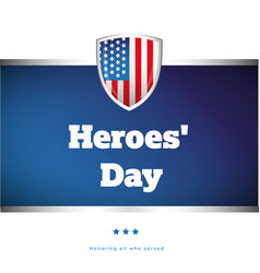 Heroes day usa banner vector