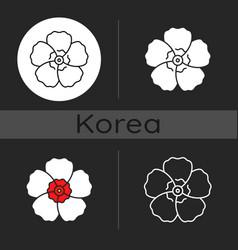 hibiscus syriacus dark theme icon vector image