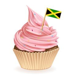 Jamaican Cupcake vector image