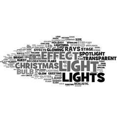 Lights word cloud concept vector