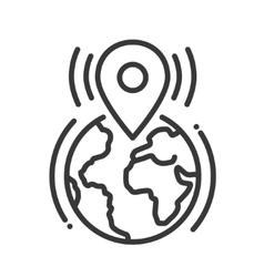 Location tag call single icon vector