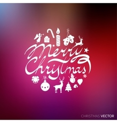 Merry Christmas lettering typography Text design vector image