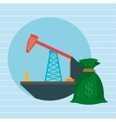 oil drilling money isolated icon design vector image