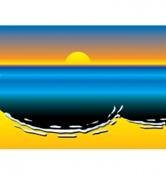 oil slick pollution vector image