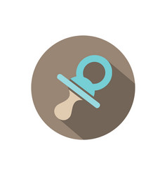 Pacifier icon on a circle with shade vector