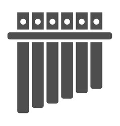 Panpipe glyph icon musical and instrument vector