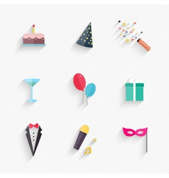 Party Icons and Celebration Icons vector
