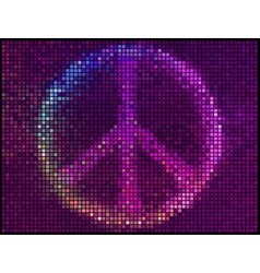 Peace Sign Multicolor abstract lights background vector image