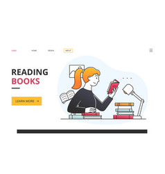reading books for personal entertainment or hobby vector image