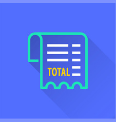 Receipt - icon for graphic and web design vector