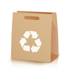 recycle shopping brown bag of vector image