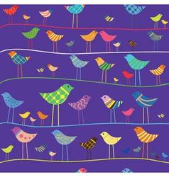 retro funny bird seamless vector image
