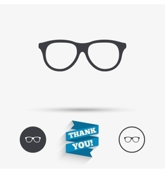 Retro glasses sign icon Eyeglass frame symbol vector image