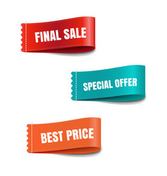 sale labels isolated vector image