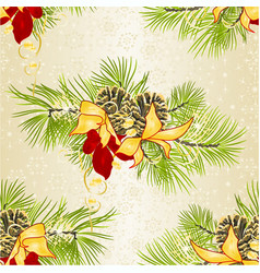 Seamless texture christmas decoration pine vector