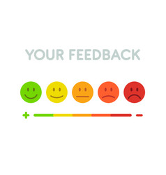Set faces scale feedback - isolated vector