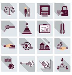 Set of business simple icons economic concept vector