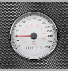 Speedometer 40 km per hour car dashboard gauge vector