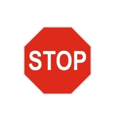 Stop sign icon in flat style vector
