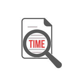 time word magnifying glass vector image