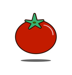 tomato icon filled outline sign linear vector image