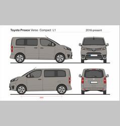 Toyota proace verso compact van l1 2016-present vector
