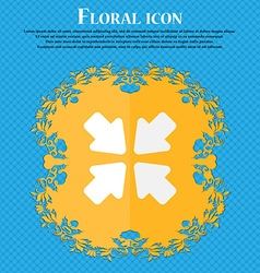 turn to full screen Floral flat design on a blue vector image