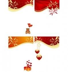valentines frames vector image
