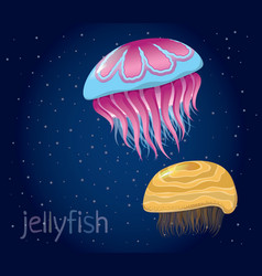 Various fantastic jellyfish vector