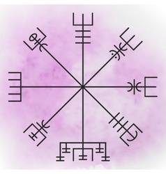 Vegvisir - the magic navigation compass vector