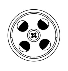 Video tape reel icon image vector