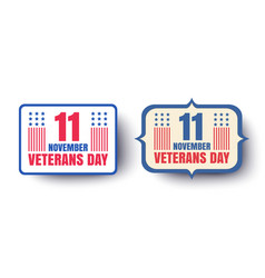 vintage banners for veterans day vector image