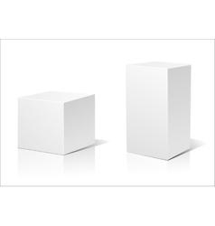 White 3d box vector